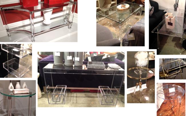 Lucite Interior Design Tables