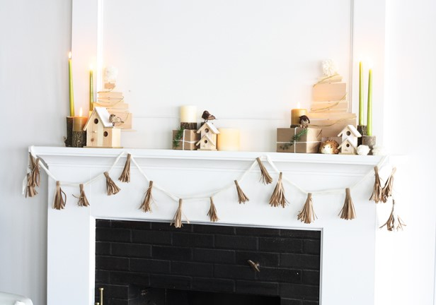 Heather Ryder Design - Holiday Mantel by DIY Network