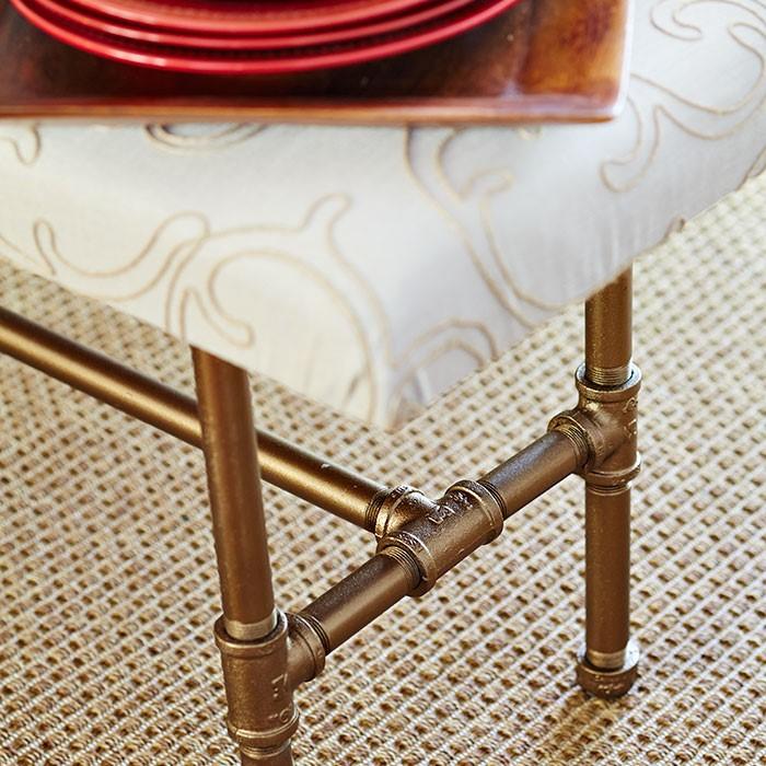 Heather Ryder Design - Holiday Upholstered Bench