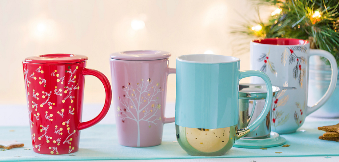 Colorful Tea Mugs - Heather Ryder Design