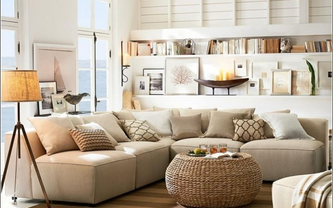Coastal Living Room - Heather Ryder Design